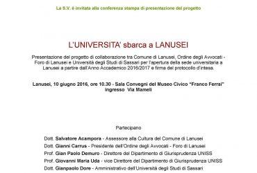 L'Università sbarca a Lanusei